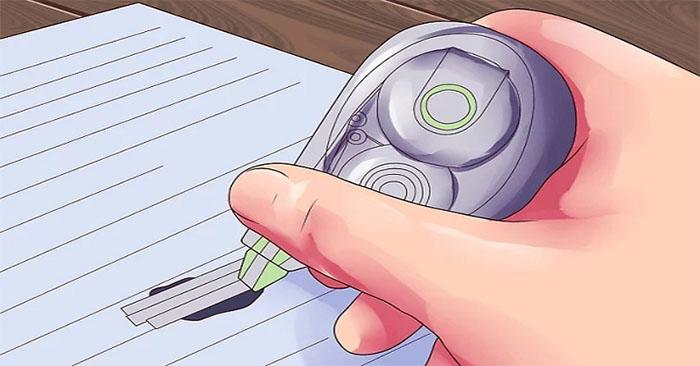 Tẩy mực in trên giấy