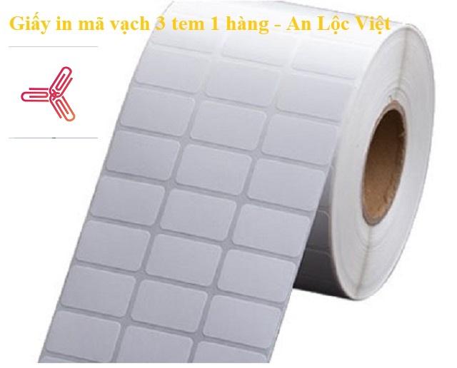 giấy in mã vạch 3 tem 1 hàng