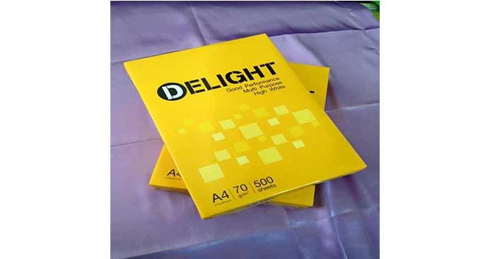 Giá giấy A4 Delight 70gsm - 1 ram 48,000 đ