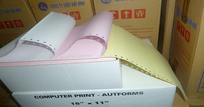 giấy in liên tục