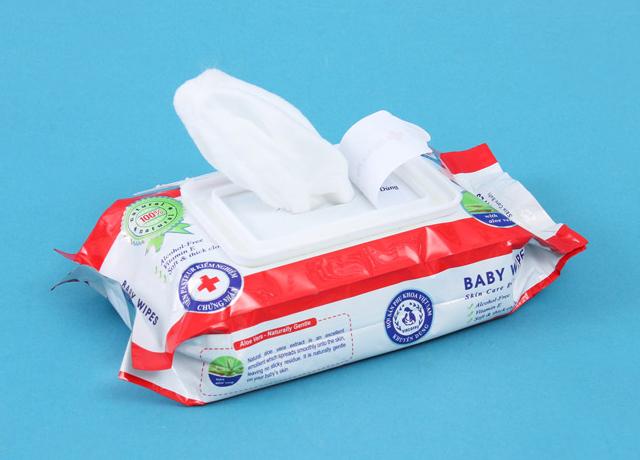 Khăn giấy ướt Baby Care an toàn cho da của bé