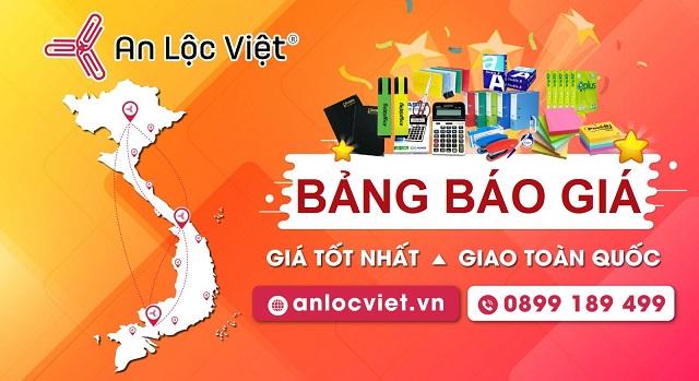 bảng báo giá mới nhất 2021 - văn phòng phẩm An Lộc Việt
