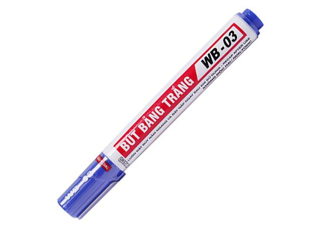 Bút lông màu xanh dương thường dùng cho viết bảng hiện nay