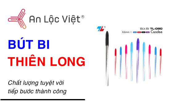 An Lộc Việt cung cấp các loại bút bi nhãn hiệu Thiên Long