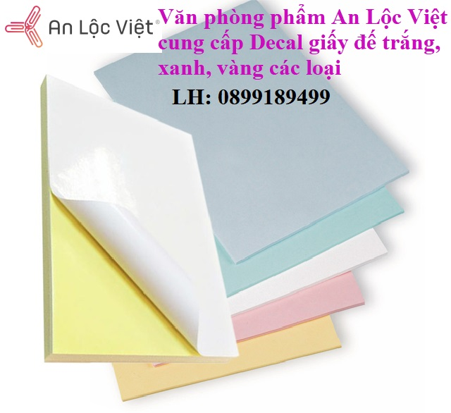 văn phòng phẩm An Lộc Việt cung cấp các loại giấy decal A4 các loại