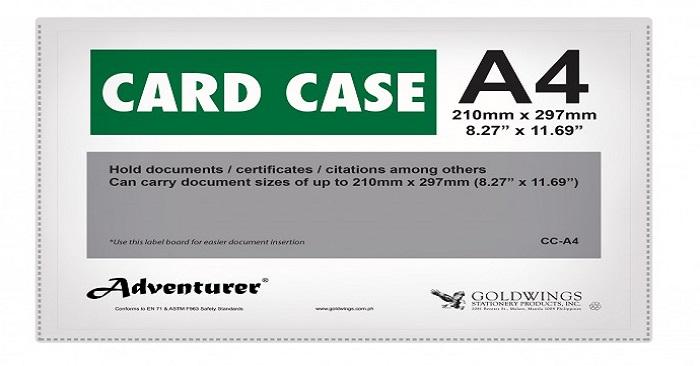 thẻ card case a4