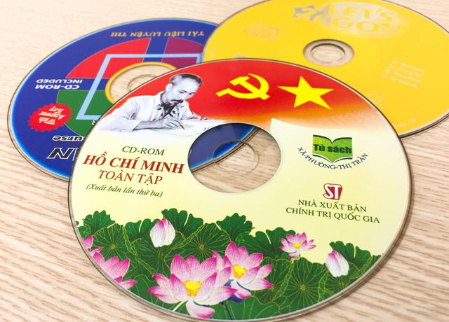 Các mẫu in nhãn đĩa CD với màu sắc bắt mắt