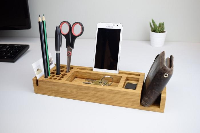 Dụng cụ văn phòng bằng gỗ