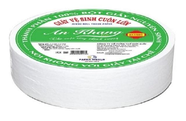 giấy vệ sinh cuộn lớn An Khang