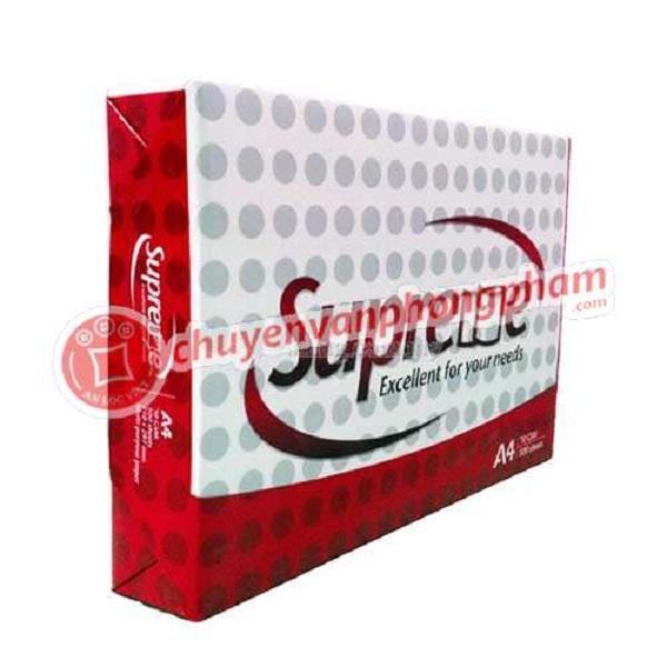 Giấy Supreme giá rẻ A4 70 gsm - 1 ram giá 52,000 đ