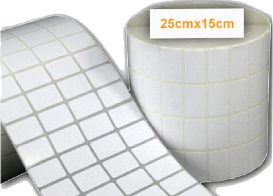Giấy in mã vạch 4 tem thường được đóng dạng cuộn