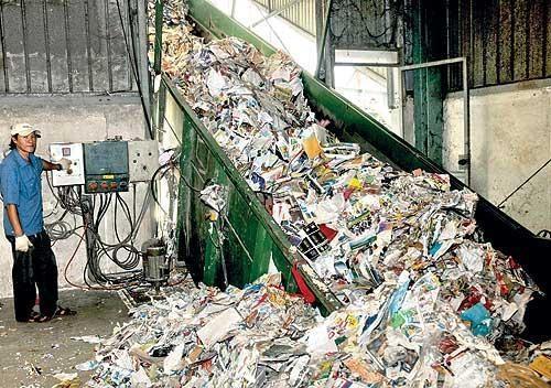 quy trình tái chế giấy tại việt nam