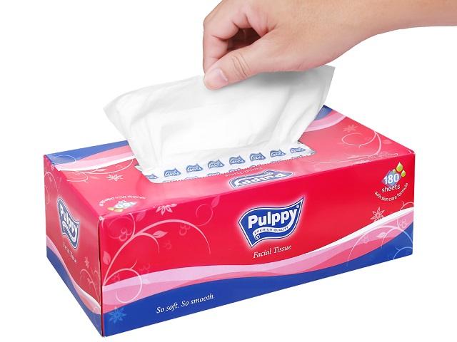 khăn giấy ăn pulppy tissue