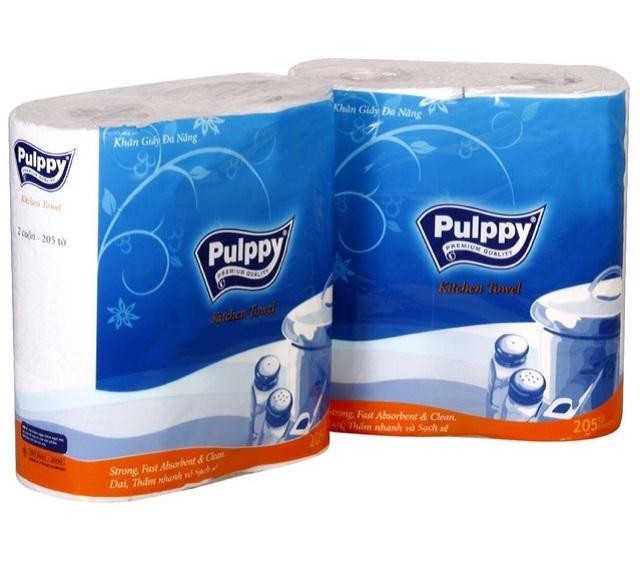 Khăn giấy bếp Pulppy đa năng 2 cuộn