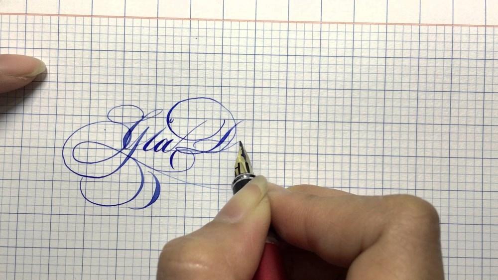 Nét chữ viết ra của bút mực (bút máy)