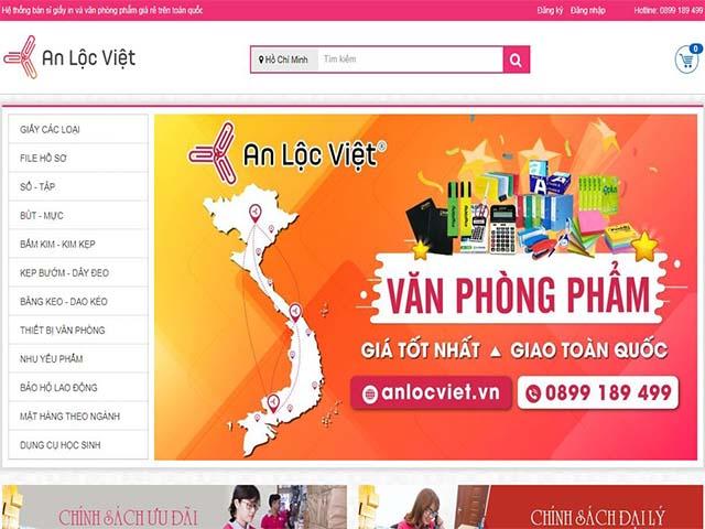 website cung cấp văn phòng phẩm online an lộc việt